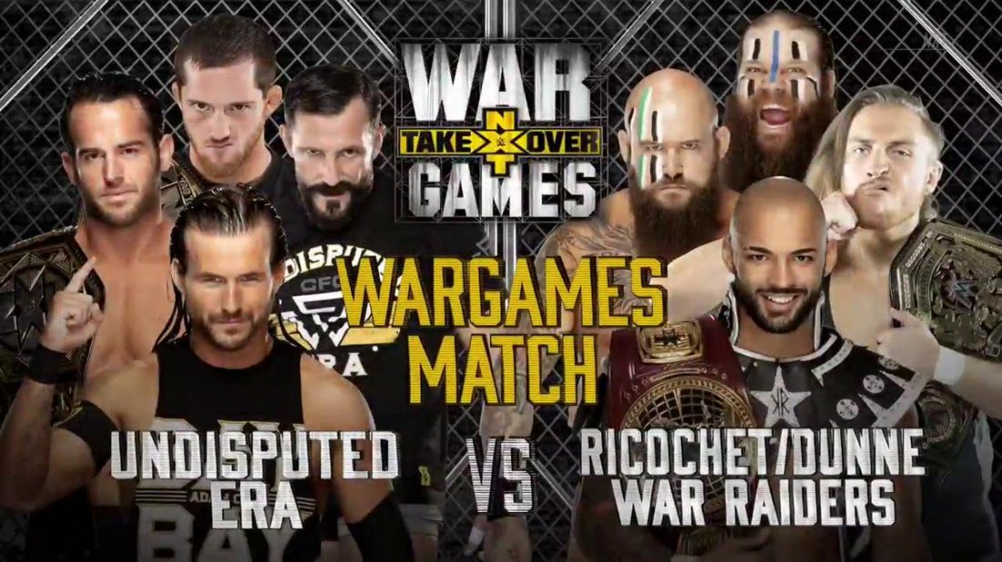 wwe-nxt-takeover-war-games-undisputed-era-adam-cole-roderick-strong-kyle-oreilly-bobby-fish-war-raiders-ricochet-pete-dunne